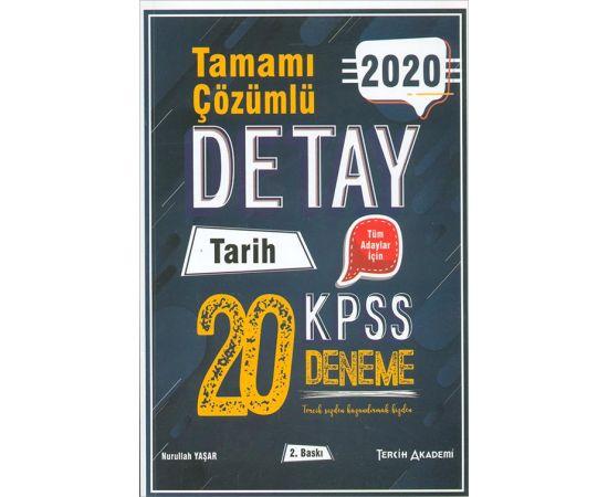 2020 KPSS Detay Tarih Çözümlü 20 Deneme Tercih Akademi Yayınları