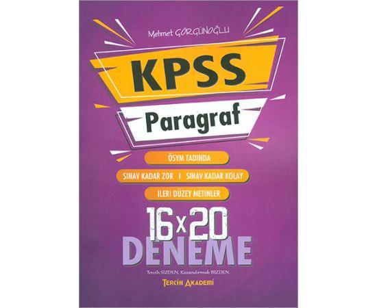 KPSS Paragraf 16x20 Deneme Tercih Akademi Yayınları