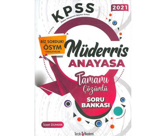 2021 KPSS Müderris Anayasa Çözümlü Soru Bankası Tercih Akademi Yayınları