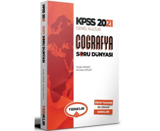 Yediiklim 2021 KPSS Genel Kültür Coğrafya Soru Dünyası