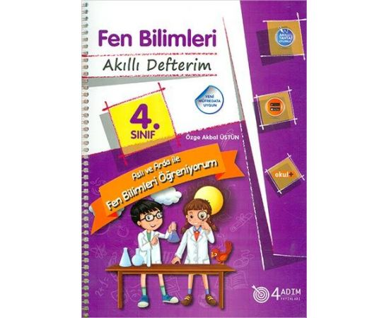 4 Adım 4.Sınıf Fen Bilimleri Akıllı Defterim Öğretmen Kitabı
