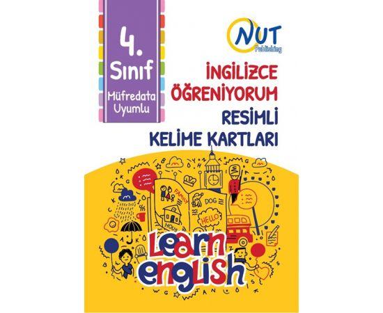 4.Sınıf İngilizce Öğreniyorum Resimli Kelime Kartları Nut Publishing