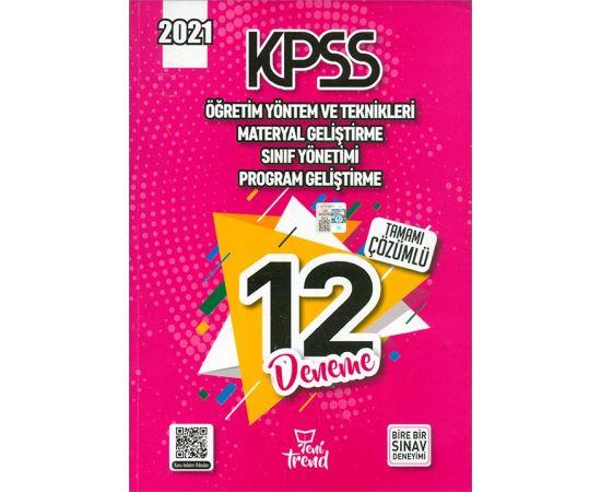 2021 KPSS Öğretim Yöntem ve Teknikleri Çözümlü 12 Deneme Yeni Trend Yayınları