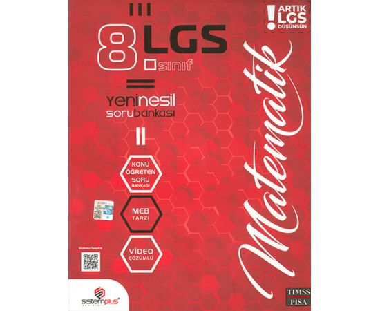 8.Sınıf LGS Matematik Video Konu Anlatım ve Çözümlü Soru Bankası Sistemplus Yayınları