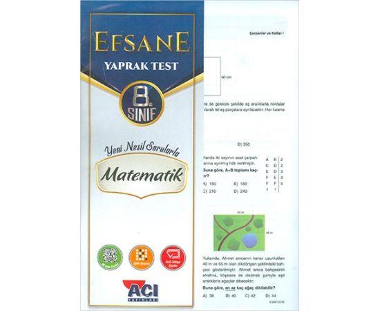 Açı 8.Sınıf Matematik Efsane Yaprak Test