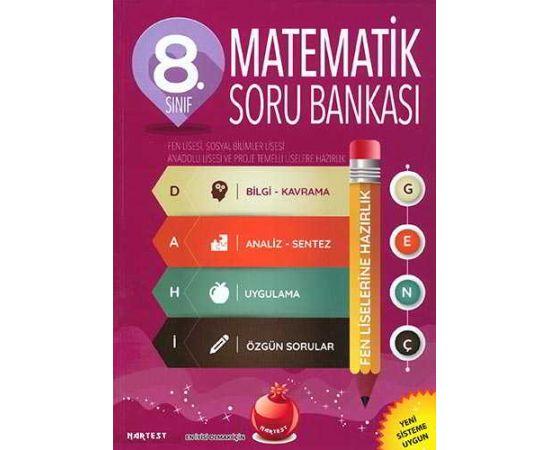 Nartest 8.Sınıf Dahi Genç Matematik Soru Bankası