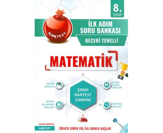 8.Sınıf Yeşil İlk Adım Matematik Soru Bankası Nartest Yayınları