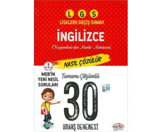 Editör LGS İngilizce Çözümlü 20 Branş Denemesi