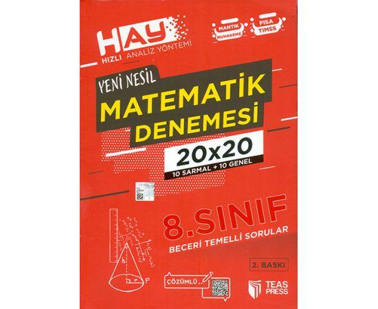 8.Sınıf 20x20 Matematik Denemesi Teas Press