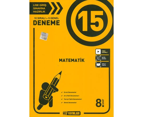 8.Sınıf Matematik 15li Deneme Hız Yayınları