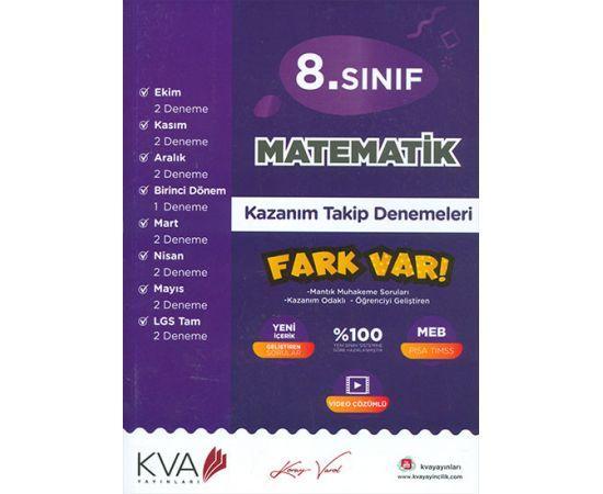 8.Sınıf Matematik Kazanım Takip Denemeleri KVA Yayınları