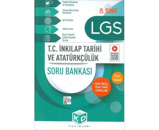 2021 8. Sınıf LGS TC İnkılap Tarihi ve Atatürkçülük Soru Bankası KD Yayınları