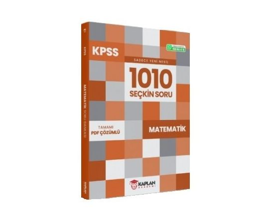 Kaplan Akademi 2021 KPSS Matematik 1010 Seçkin Soru Bankası PDF Çözümlü