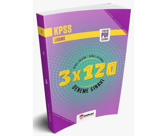 Kaplan Akademi 2021 KPSS Genel Yetenek Genel Kültür Türkiye Geneli 3x120 Deneme Pdf Çözümlü
