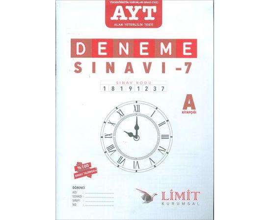 AYT Deneme Sınavı-7 A Kitapçığı Limit Yayınları