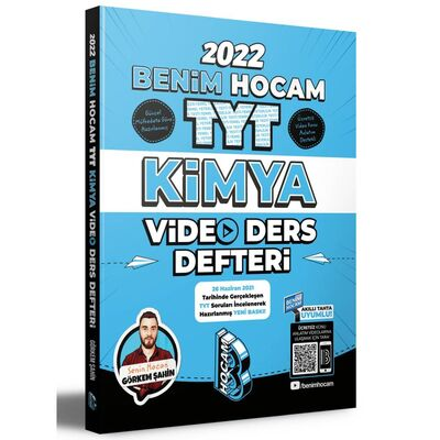 2022 TYT Kimya Video Ders Defteri Benim Hocam Yayınları